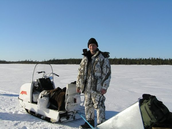 снегоход буран на охоте и рыбалке